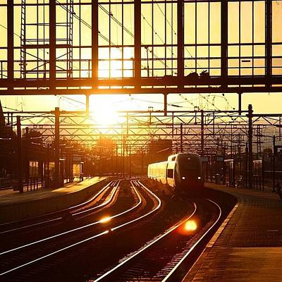 Train Photograph - #amsterdam #amsterdamcentralstation by Ozan Goren