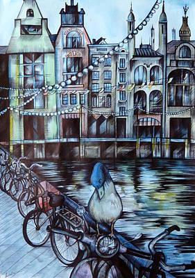 Amsterdam Art Print by Anna  Duyunova