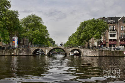 Photograph - Amsterdam Arched Bridge by Crystal Nederman