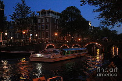 Photograph - Amsterdam At Night by David Grant