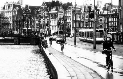 Photograph - Amsterdam Bike Lane by John Rizzuto