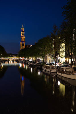 Photograph - Amsterdam Blue Hour by Georgia Mizuleva