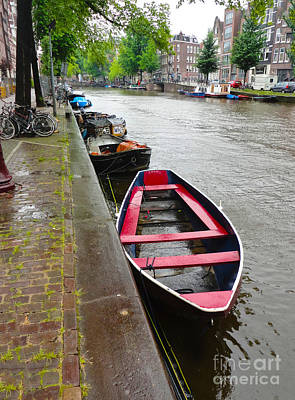 Amsterdam Boat - 02 Art Print by Gregory Dyer