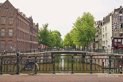 Photograph - Amsterdam Bridge And Bicycle by Crystal Nederman
