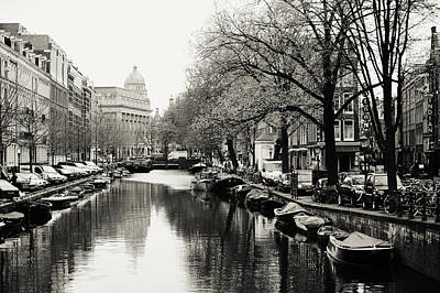 Photograph - Amsterdam Canal 1 by Jenny Rainbow