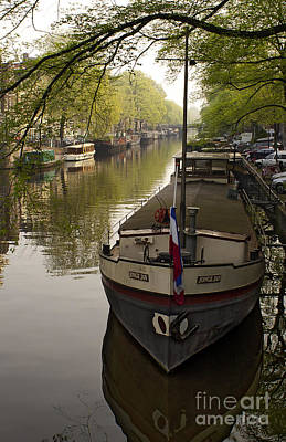 Food And Flowers Still Life - Amsterdam Canal   #7676 by J L Woody Wooden