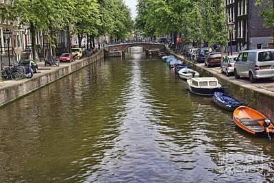 Photograph - Amsterdam Canal Boats by Crystal Nederman