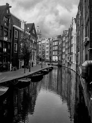 Nederland Photograph - Amsterdam Canal by Heather Applegate