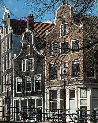 Photograph - Amsterdam Canal Houses #1 by Marinus Ortelee