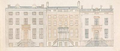 Amsterdam Drawing - Amsterdam Canal Houses Along The Herengracht 450-456 by Cornelis Danckerts (ii) And Johan Teyler