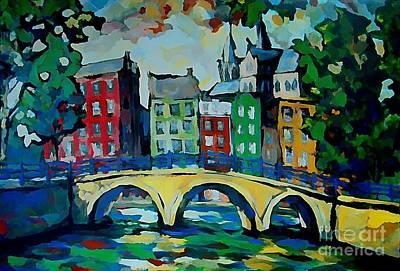 Amsterdam Digital Art - Amsterdam Canal by John Malone