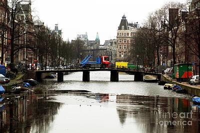Amsterdam Canal Art Print by John Rizzuto
