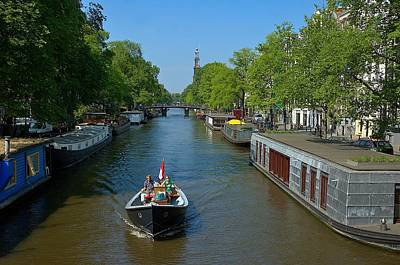 Photograph - Amsterdam Canal Scene by Steven Richman