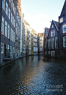 Amsterdam Canal View - 01 Art Print by Gregory Dyer