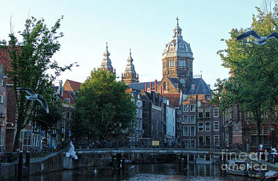 Amsterdam Canal View - 02 Art Print by Gregory Dyer