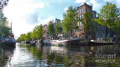 Amsterdam Canal View - 03 Art Print by Gregory Dyer