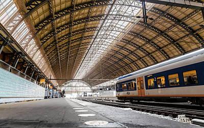 Photograph - Amsterdam Centraal Railway Station by Brian Grzelewski