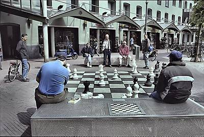 Photograph - Amsterdam Chess Game by Steven Richman