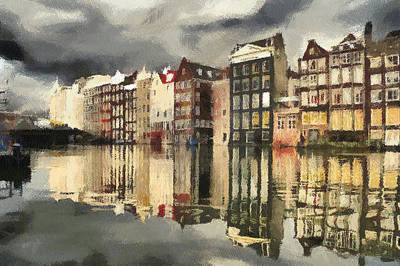 Painting - Amsterdam Cloudy Grey Day by Georgi Dimitrov