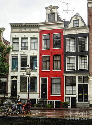 Amsterdam  Crooked Houses Art Print by Gregory Dyer