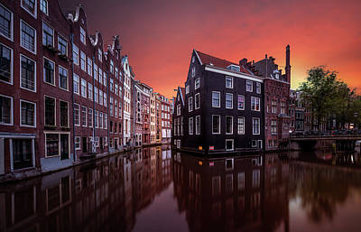 Amsterdam Wall Art - Photograph - Amsterdam Dawn by Merakiphotographer