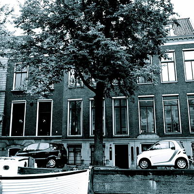 Amsterdam Electric Car Art Print by Cheryl Miller
