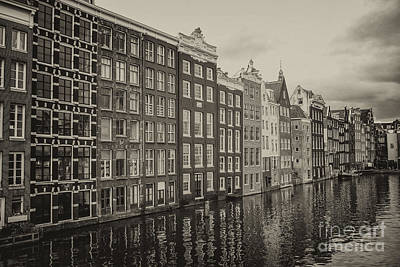 Photograph - Amsterdam Houses On A Canal by Patricia Hofmeester