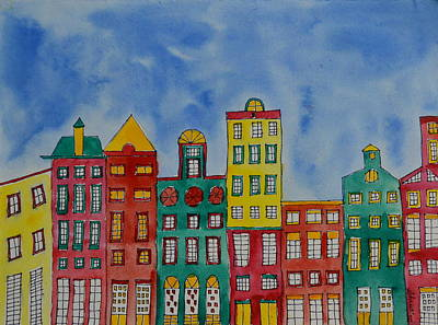 Painting - Amsterdam Houses by Shruti Prasad