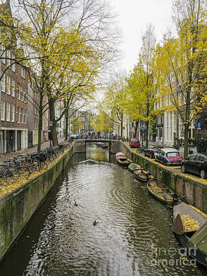 Photograph - Amsterdam In Autumn by Patricia Hofmeester