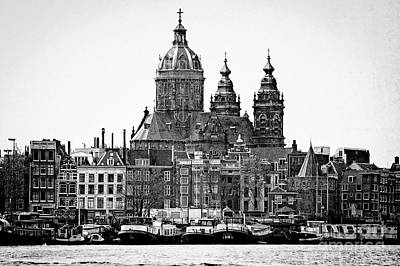 Photograph - Amsterdam In Black And White by Jill Smith