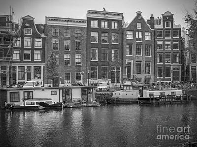 Photograph - Amsterdam In Black And White by Patricia Hofmeester