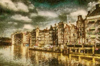 Amsterdam Art Print by Jose Maqueda