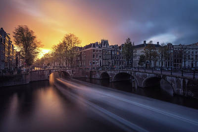 Holland Wall Art - Photograph - Amsterdam - Keizersgracht by Jean Claude Castor