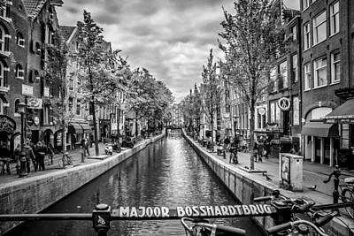 Old Town Digital Art - Amsterdam by Melanie Viola