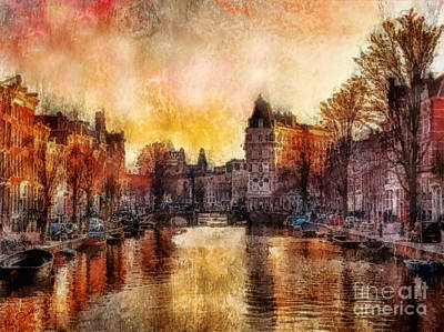 Netherlands Painting - Amsterdam by Mo T