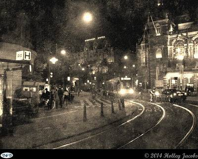 Digital Art - Amsterdam Nightlife by Holley Jacobs