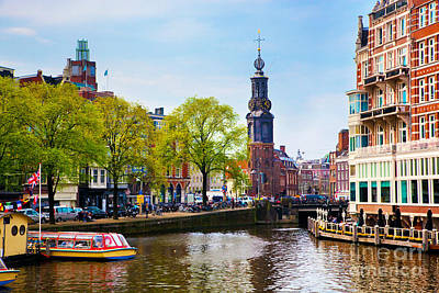 Cabin Cruiser Photograph - Amsterdam Old Town Canal by Michal Bednarek