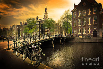 Photograph - Amsterdam Romantic Canal Bridge by Michal Bednarek