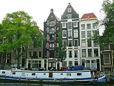 Photograph - Amsterdam Slim Houses by Rachel Gagne