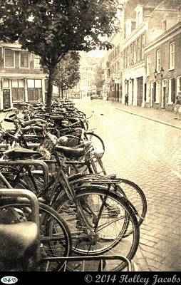 Digital Art - Amsterdam Street Parking by Holley Jacobs