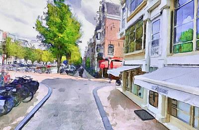 Amsterdam Digital Art - Amsterdam Streets 2 by Yury Malkov