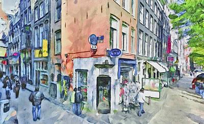 Amsterdam Streets 3 Art Print by Yury Malkov