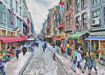 Amsterdam Digital Art - Amsterdam Streets 5 by Yury Malkov