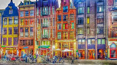 Amsterdam Digital Art - Amsterdam Today 1 by Yury Malkov