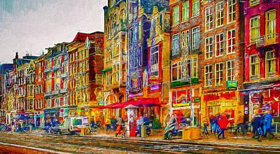 Amsterdam Digital Art - Amsterdam Today 3 by Yury Malkov