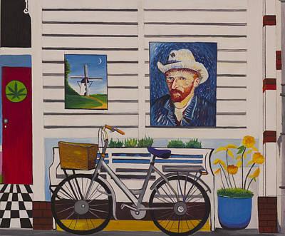 Gustavo Oliveira Painting - Amsterdam Van Gogh by Gustavo Oliveira