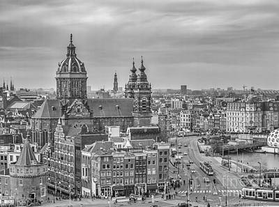 Vintage Movie Stars - Amsterdam view with St.Nicolaaschurch by Patricia Hofmeester