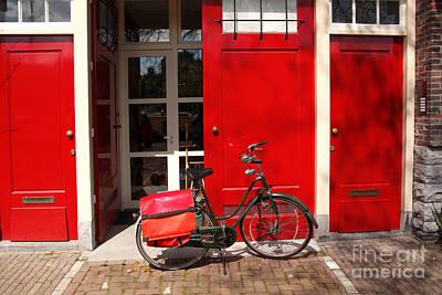 Amsterdam With Bike In Holland Original by Tomas Marek