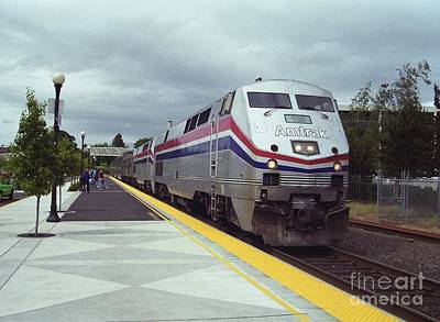 Photograph - Amtrak 113 Arrives In Salem by James B Toy