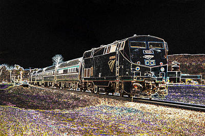 Photograph - Amtrak Abstract by Paul Miller